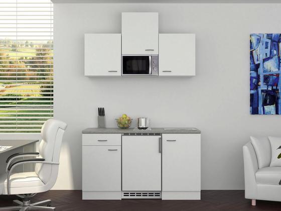 Küchenblock Wito 150 cm Weiß - Weiß/Grau, MODERN, Holzwerkstoff (150/60cm)