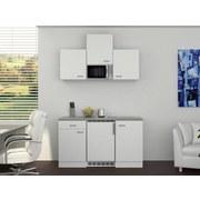 Miniküche Wito 150 cm Weiß - Weiß/Grau, MODERN, Holzwerkstoff (150/60cm) - FlexWell.ai