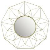 Dekospiegel Trudy - Goldfarben, MODERN, Glas/Metall (61,5cm) - Luca Bessoni