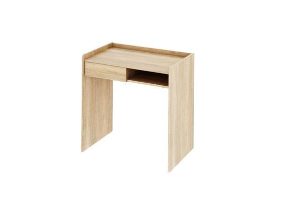 Písací Stôl Bady - farby dubu, Moderný, kompozitné drevo (80/80/50cm)