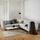Sedací Souprava Crissie - světle šedá, Moderní, dřevo/textil (233/230cm) - Mömax modern living