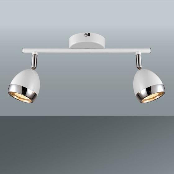 Svítidlo Bodové Nantes - bílá/barvy chromu, Lifestyle, kov/umělá hmota (25/15,5cm) - Mömax modern living