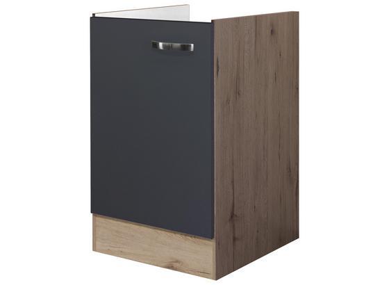 Küchenunterschrank Shadow   Spu-50 - Grau, MODERN, Holzwerkstoff (50/82/57cm)