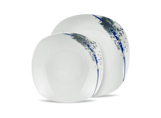 Tafelservice Patricia - Blau/Weiß, MODERN, Keramik (27cm) - Luca Bessoni
