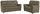 Sitzgarnitur Queenline 3er 198 cm/2er 146 cm - Schwarz/Braun, KONVENTIONELL, Holz/Holzwerkstoff (198/96/92cm) - James Wood
