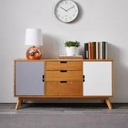 Komoda Maris - bílá/barvy dubu, Moderní, dřevo (120/60/35cm) - Modern Living