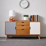 Komoda Maris - farby dubu/biela, Moderný, drevo (120/60/35cm) - Modern Living