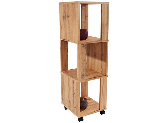 Regál Rolly 2 - farby dubu, Moderný, kompozitné drevo/plast (34/111/34cm)