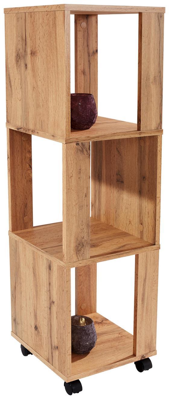 Regal Rolly - Eichefarben, MODERN, Holzwerkstoff/Kunststoff (34/111/34cm)