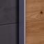 Schwebetürenschrank 271cm Moon, Eiche/ Betonoxid Dekor - Eichefarben/Dunkelgrau, MODERN, Holzwerkstoff (270/210/60cm)