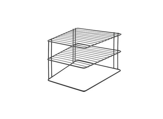 Universalablage Palio Lava Eckschrankeinsatz - Schwarz, Basics, Metall (25/25/19cm)
