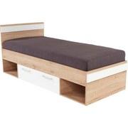 Bett Box 90 - Eichefarben/Weiß, MODERN, Holzwerkstoff (207/95/86cm)