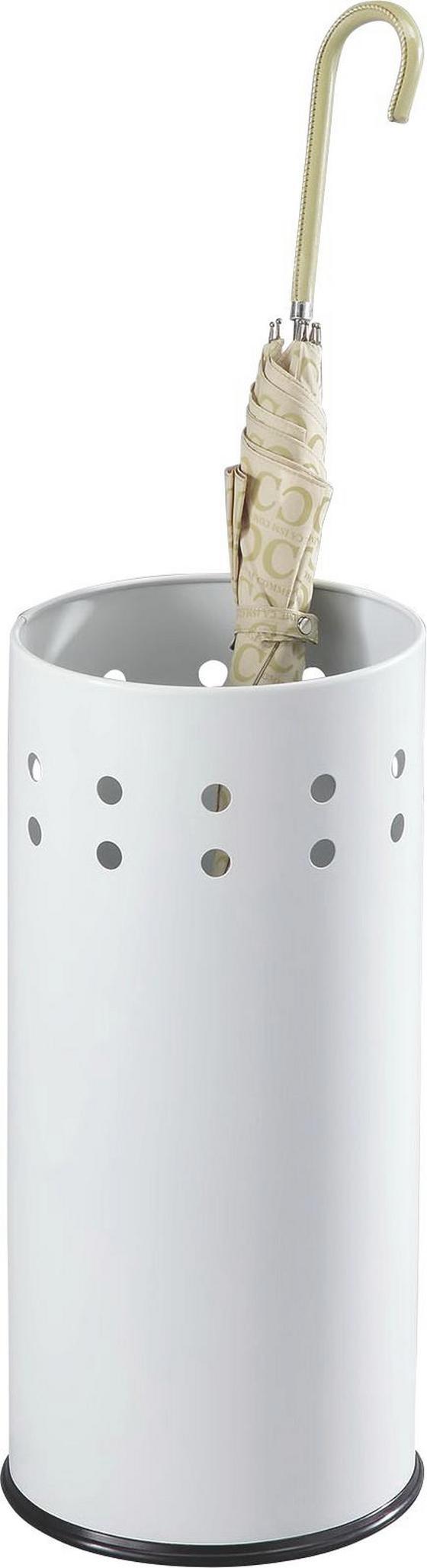 Stojan Na Dáždnik Lonati - biela, Moderný, kov/drevený materiál (23,5/50cm)