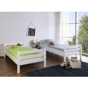 Etagenbett Beni L 2x 90x200 cm Weiß - Weiß, Design, Holz (90/200cm)