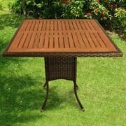 Gartentisch Valencia - Schwarz, Basics, Holz/Kunststoff (85/85/74cm) - Ambia Garden