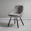 Stolička Goldie - čierna/svetlosivá, Moderný, kov/drevo (51,5/84/53,5cm) - Modern Living
