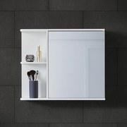 Zrkadlo Rocco - biela, Moderný, drevo/sklo (60/50/11,50cm) - Modern Living