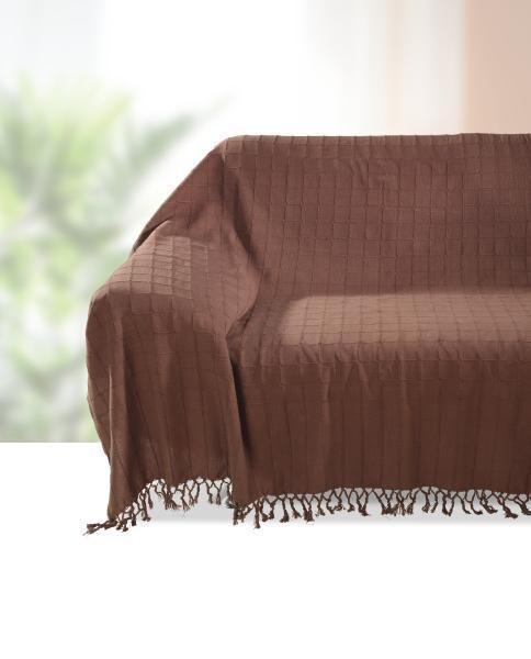 Ágytakaró Irina - barna, konvencionális, textil (210/260cm) - OMBRA