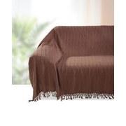 Überwurf Irina 140x210 cm - Braun, KONVENTIONELL, Textil (140/210cm) - Ombra