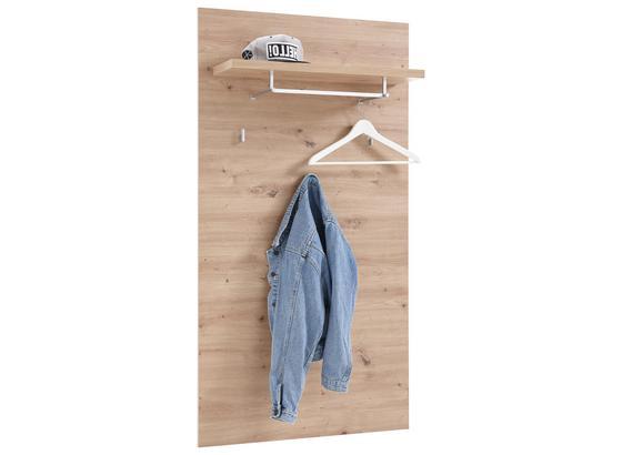 Garderobenpaneel Gomera B: 78 cm Eiche - Eichefarben, MODERN, Holzwerkstoff (78/148/26cm) - MID.YOU