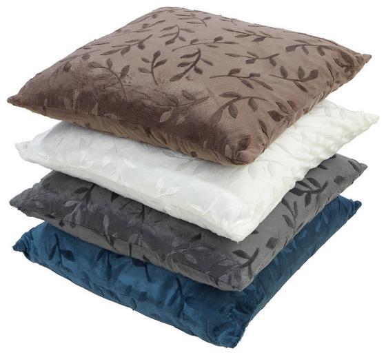 Díszpárna Petra - bézs/barna, konvencionális, textil (48/48cm) - OMBRA
