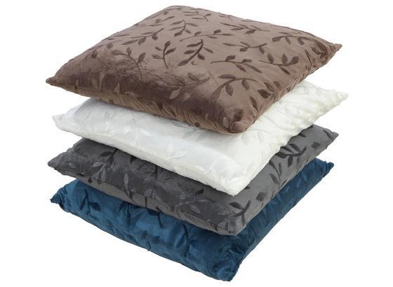 Zierkissen Petra 48x48 cm - Blau/Beige, KONVENTIONELL, Textil (48/48cm) - Ombra