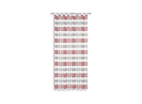 Kombivorhang Ena - Rot, MODERN, Textil (140/255cm) - Luca Bessoni