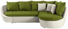 Wohnlandschaft In L-Form Florida 280x192 cm - Silberfarben/Naturfarben, MODERN, Textil (280/192cm) - Luca Bessoni