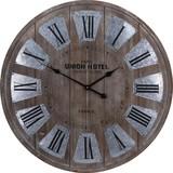 Wanduhr Union Hotel DM: 80 cm - Naturfarben, Holz (80/4cm)