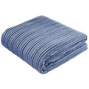 Kuscheldecke Sabina - Blau, MODERN, Textil (140/200cm) - Luca Bessoni