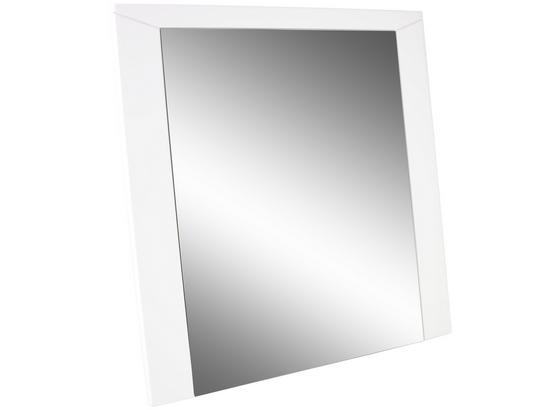 Zrcadlo Bree - bílá, Moderní, kompozitní dřevo/sklo (85/80/2cm)