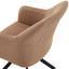Stuhl Sevilla Braun - Schwarz/Braun, MODERN, Textil/Metall (55,5/82/63cm) - Ombra