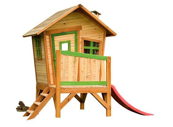 Domeček Na Hraní Axi Robin - zelená/hnědá, dřevo (262/203/157cm)