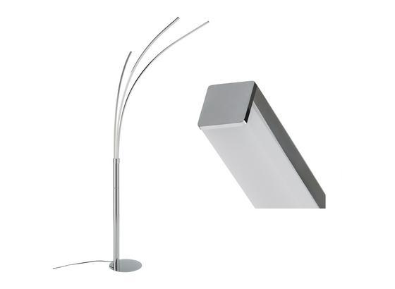 Stojací Led Lampa Maja V: 215cm, 6,2 Watt - barvy stříbra/barvy chromu, kov (80/58/215cm)