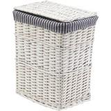 Wäschetonne Bona Gr. M - Weiß/Grau, KONVENTIONELL, Holz/Textil (44/34/57cm) - OMBRA
