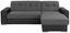Sarokgarnitúra Fulton - Sötétszürke/Fekete, Basics (260/160cm)