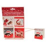 Geschenkanhänger-Set Weihnachten - Multicolor, Basics, Papier (5,5/5,5cm)