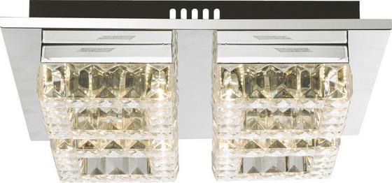 LED-Deckenleuchte Silurus - Chromfarben, MODERN, Kunststoff/Metall (35/35/10cm)