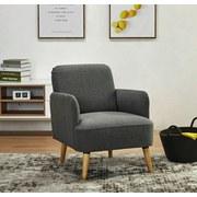 Relaxačné Kreslo Stockholm - sivá, Štýlový, drevo/textil (62/79/77cm) - Ombra