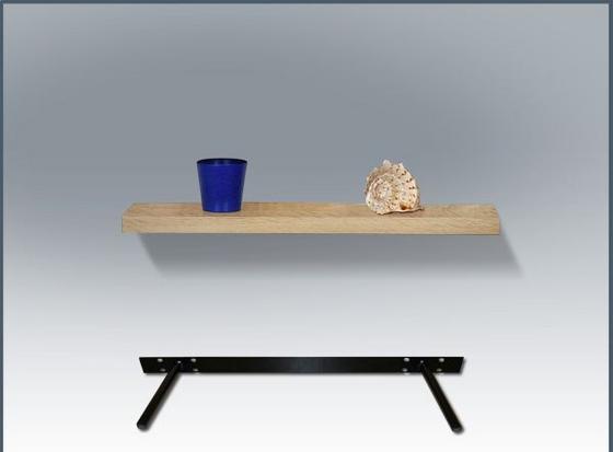 Nástenná Polica 110 Cm - farby dubu, Moderný, drevený materiál (110/4,4/26cm)
