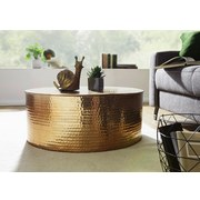 Couchtisch Rahi D: 75 cm - Goldfarben, LIFESTYLE, Metall (75/75/31cm) - MID.YOU