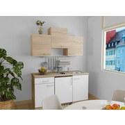 Küchenblock Samoa 150 cm Weiß/Sonoma Eiche - Eichefarben/Weiß, KONVENTIONELL, Holzwerkstoff (150cm)