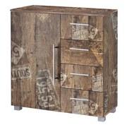 Kommode B 81,5cm Danu, Eiche Dekor - Eichefarben/Silberfarben, Basics, Holzwerkstoff (81,5/83/35cm) - MID.YOU