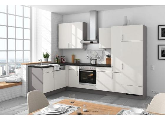 Eckküche Santiago 175x305 cm Weiß/Steingrau - Weiß/Grau, LIFESTYLE (175/305cm) - Vertico