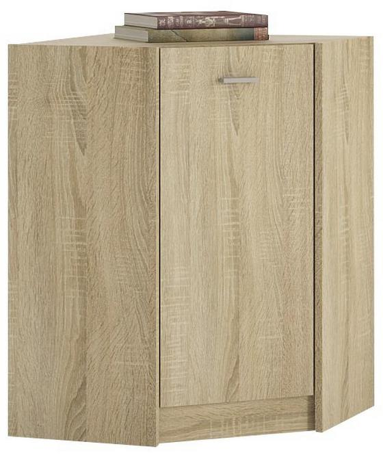 Komoda 4-you Yuk10 - dub sonoma, Moderný, drevený materiál (60,9/85,4/60,9cm)