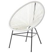 Stuhl Acapulco Weiß - Schwarz/Weiß, Basics, Kunststoff/Metall (77/80/62cm)
