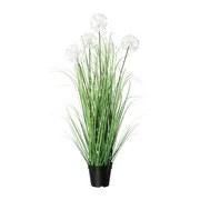 Kunstpflanze H: 98 cm Weiß - Schwarz/Weiß, MODERN, Kunststoff (98cm) - MID.YOU