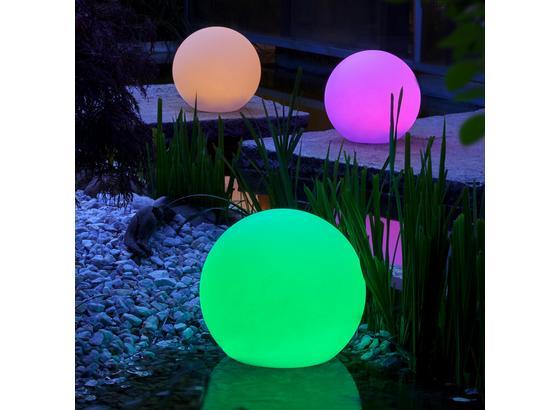 Záhradné Osvetlenie Led-solar Ben  Ø 30 Cm - biela, Moderný, plast (30/30cm) - Modern Living