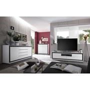 Lowboard Durban - Weiß/Grau, MODERN, Holzwerkstoff (180/48/40cm)