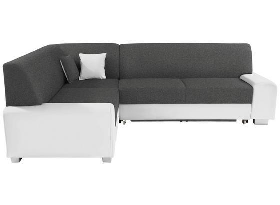 Sedací Souprava Miami - bílá/tmavě šedá, Basics, dřevo/textil (210/260cm)